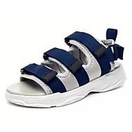 baratos Sapatos Femininos-Mulheres Jeans Verão Sandálias Salto Robusto Preto / Azul