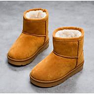 baratos Sapatos de Menino-Para Meninos / Para Meninas Sapatos Couro Ecológico Inverno Botas de Neve Botas para Infantil Marron / Vermelho / Khaki