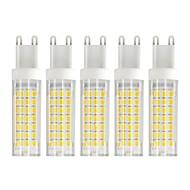 billige Kornpærer med LED-5pcs 6 W 750 lm G9 LED-kornpærer T 88 LED perler SMD 2835 Varm hvit / Kjølig hvit 85-265 V