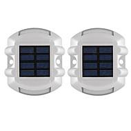 billiga Belysning-2pcs 3 W Led Street Light Vattentät / Sol / Dekorativ Gul 1.2 V Utomhusbelysning 6 LED-pärlor