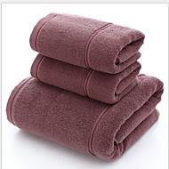 Χαμηλού Κόστους Πετσέτα μπάνιου-Ανώτερη ποιότητα Πετσέτα μπάνιου, Μονόχρωμο Πολυ / Βαμβάκι Μπάνιο 3 pcs