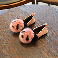 baratos Sapatos de Menino-Para Meninos / Para Meninas Sapatos Pêlo Sintético Outono Conforto Mocassins e Slip-Ons Pom Pom para Infantil Preto / Rosa claro / Khaki