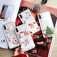 billiga Mobil cases & Skärmskydd-fodral Till Apple iPhone XS / iPhone XS Max Flytande vätska / Mönster Skal Jul Hårt PC för iPhone XS / iPhone XR / iPhone XS Max