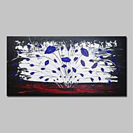 billiga Blom-/växtmålningar-Hang målad oljemålning HANDMÅLAD - Abstrakt / Blommig / Botanisk Moderna Inkludera innerram / Sträckt kanfas