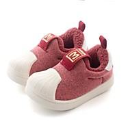 baratos Sapatos de Menino-Para Meninos / Para Meninas Sapatos Algodão Outono & inverno Conforto Mocassins e Slip-Ons Cadarço de Borracha para Bébé Vermelho / Verde / Azul