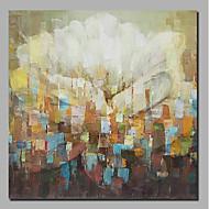 billiga Blom-/växtmålningar-Hang målad oljemålning HANDMÅLAD - Abstrakt Blommig / Botanisk Samtida Moderna Inkludera innerram / Valsad duk / Sträckt kanfas
