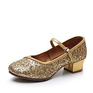 billige Moderne sko-Dame Moderne sko Syntetisk Høye hæler Strå Tykk hæl Kan spesialtilpasses Dansesko Svart / Sølv / Rød
