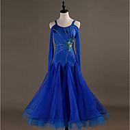 Επίσημος Χορός Φορέματα Γυναικεία Εκπαίδευση Νάιλον / Οργάντζα / Τούλι Κρύσταλλοι / Στρας Μακρυμάνικο Ψηλό Φόρεμα