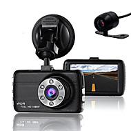 ドライバー用のダブルレンズダッシュカムカメラdvr車フルHD 1080 pレコーダーカメラナイトビジョンgセンサー