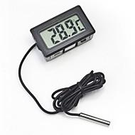 digital indlejret termometer LCD øjeblikkelig læst køleskab akvarium overvågningsskærm med vandtæt detektor
