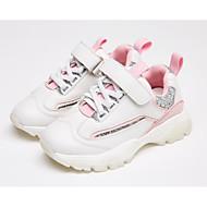 tanie Obuwie dziewczęce-Dla dziewczynek Obuwie PU Wiosna i jesień Wygoda Adidasy Sznurowane / Tasiemka na Dzieci Beżowy / Różowy / Różowy / Biały / Kolorowy blok