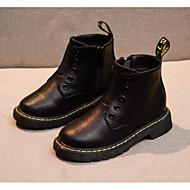 baratos Sapatos de Menina-Para Meninos / Para Meninas Sapatos Couro Envernizado Outono & inverno Botas da Moda Botas Cadarço para Infantil Preto