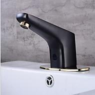 Χαμηλού Κόστους Βρύσες Νιπτήρα Μπάνιου-Μπάνιο βρύση νεροχύτη - Αισθητήρας Μαύρο Οξείδιο Φινίρισμα Ελεύθερη όρθια θέση Hands free μια τρύπα