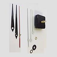 Movimiento de reloj de pared de cuarzo grande Mecanismo de reloj bricolaje partes clásico reloj de cuarzo negro movimiento de reloj de pared
