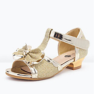 baratos Sapatos de Menina-Para Meninas Sapatos Sintéticos Primavera Verão Sapatos para Daminhas de Honra Sandálias Laço / Lantejoulas para Infantil / Adolescente Dourado / Fúcsia