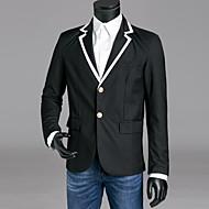 Per uomo Quotidiano Moda città Inverno Standard Giacca, Monocolore Colletto Manica lunga Poliestere Bianco / Nero / Blu marino L / XL / XXL