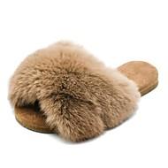 baratos Sapatos de Menina-Para Meninas Sapatos Pêlo Sintético Outono & inverno Conforto Chinelos e flip-flops para Infantil / Adolescente Preto / Marron