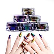 1 pcs Sticker transparent / Ecologic / Schimbare - Culoare Strălucire Strălucire Pudră Pulbere Pentru Unghie Noutate nail art pedichiura si manichiura Zilnic / Mascaradă / Ziua Recunoștinței La mod