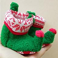 baratos Sapatos de Menina-Para Meninos / Para Meninas Sapatos Algodão Inverno Primeiros Passos Botas para Bebê Vermelho / Verde / Vermelho Escuro / Botas Curtas / Ankle