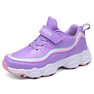 baratos Sapatos de Menina-Para Meninas Sapatos Sintéticos Primavera & Outono Conforto Tênis Corrida Cadarço para Infantil / Adolescente Preto / Roxo Claro / Azul