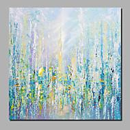 billiga Blom-/växtmålningar-Hang målad oljemålning HANDMÅLAD - Abstrakt / Blommig / Botanisk Samtida / Moderna Inkludera innerram / Valsad duk / Sträckt kanfas