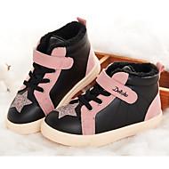tanie Obuwie dziewczęce-Dla dziewczynek Obuwie PU Zima Wygoda Adidasy Cekin / Tasiemka na Dzieci Czarny / Różowy / Kolorowy blok