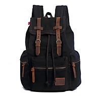 cheap Backpacks-Men's Bags Canvas Backpack Zipper Coffee / Army Green / Khaki