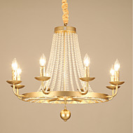 billige Takbelysning og vifter-JLYLITE 8-Light Candle-stil Lysekroner Omgivelseslys galvanisert Metall Stearinlys Stil 110-120V / 220-240V