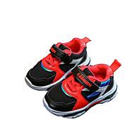 baratos Sapatos de Menino-Para Meninos / Para Meninas Sapatos Couro Ecológico Primavera & Outono Conforto Tênis Elástico / Velcro para Infantil / Bébé Preto / Cinzento / Rosa claro