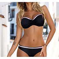 Naisten Perus Rubiini Punastuvan vaaleanpunainen Vaalean sininen Pikkutuhmat Bikini Uima-asut - Color Block Painettu L XL XXL