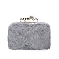 baratos Clutches & Bolsas de Noite-Mulheres Bolsas Veludo Bolsa de Festa Detalhes em Cristal Rosa / Marron / Cinzento Claro