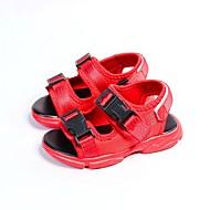 baratos Sapatos de Menino-Para Meninos / Para Meninas Sapatos Sintéticos Verão Conforto / Primeiros Passos Sandálias para Bébé Branco / Preto / Vermelho