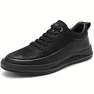 baratos Sapatos Masculinos-Homens Sapatos de couro Pele Napa Primavera & Outono Esportivo / Casual Tênis Massgem Preto