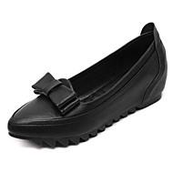 tanie Small Size Shoes-Damskie PU Wiosna / Lato Wygoda Mokasyny i buty wsuwane Nasek w szpic Kokarda Szary / Czerwony / Migdałowy