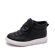 baratos Sapatos de Menina-Para Meninas Sapatos Couro Ecológico Outono & inverno Botas da Moda Botas Laço / Ziper para Infantil Preto / Vermelho / Rosa claro