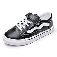 baratos Sapatos de Menina-Para Meninos / Para Meninas Sapatos Couro Primavera & Outono Conforto Tênis Velcro para Infantil Branco / Preto / Vermelho / Estampa Colorida