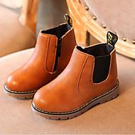 baratos Sapatos de Menino-Para Meninos / Para Meninas Sapatos Couro Ecológico Primavera & Outono Coturnos Botas para Bébé Preto / Cinzento / Marron / Botas Curtas / Ankle