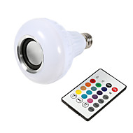 1pc smart e27 rgb bluetooth speaker ha condotto la lampadina 12w musica giocando dimmerabile lampada led wireless 24 tasti di controllo remoto