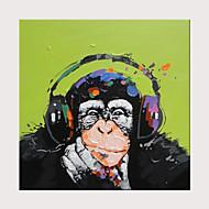 Hang-Malowane obraz olejny Ręcznie malowane - Abstrakcja Pop art Nowoczesny Zwinięte płótna