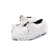 baratos Sapatos de Menina-Para Meninas Sapatos Sintéticos Outono / Outono & inverno Conforto Rasos para Bébé Bege / Cinzento / Rosa claro
