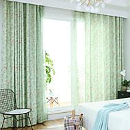 billige Gardiner ogdraperinger-gardiner gardiner Soverom Moderne Polyesterblanding Trykket