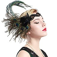 The Great Gatsby Vintage 1920s The Great Gatsby Roaring 20s Costume Women's Headpiece Flapper Headband Head Jewelry Green Vintage Cosplay Party Prom