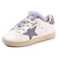 baratos Sapatos de Menino-Para Meninos / Para Meninas Sapatos Couro Inverno Conforto Tênis Cadarço para Infantil Preto / Roxo / Amêndoa