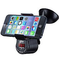 yuanyuanbbenben fm09 multifunkční handsfree sada do auta fm vysílač mp3 audio přehrávač s držákem držáku pro mobilní telefony gps