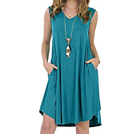cheap -Women's Plus Size Daily A Line Dress Oversize V Neck Wine Royal Blue Lavender XXXXL XXXXXL XXXXXXL