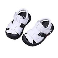 baratos Sapatos de Menino-Para Meninos / Para Meninas Sapatos Pele Verão Conforto / Primeiros Passos Sandálias para Bébé Branco / Preto
