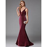 Syrena Dekolt w kształcie Y Tren sweep Z cekinami Błyszczące Kolacja oficjalna Sukienka z Cekin przez TS Couture®