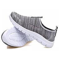 baratos Sapatos Femininos-Mulheres Tissage Volant Verão Mocassins e Slip-Ons Sem Salto Cinzento Claro / Vermelho Escuro