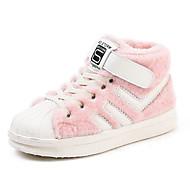 baratos Sapatos de Menino-Para Meninos / Para Meninas Sapatos Microfibra Inverno Conforto Tênis Velcro para Infantil Preto / Cinzento / Rosa claro / Listrado