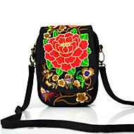 baratos Bolsas de Ombro-Mulheres Bolsas Tela de pintura Bolsa de Ombro Floral Dourado / Vermelho / Roxo